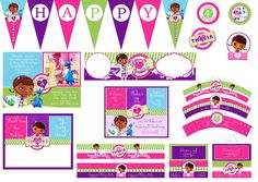Cute Doc Mcstuffins Digital Birthday Party Pack With Invitation, DIY Print. $29.99, via Etsy.
