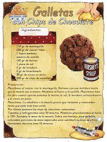 Tartas, Galletas Decoradas y Cupcakes: Cookies con Chips de Chocolate My Recipes, Sweet Recipes, Cookie Recipes, Dessert Recipes, Desserts, Cupcakes, Cupcake Cakes, Dessert Shots, Choco Chips