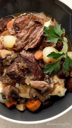 Beef Bourguignon is a favorite classic beef stew that is full of flavor.