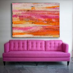 XMAS SALE...Giant Colorful abstract Painting by erinashleyart