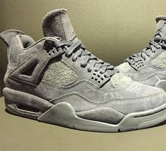35c29c9709b9ce KAWS Jordan 4 Grey Suede First Look
