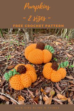 Crochet Fruit, Crochet Pumpkin, Knit Or Crochet, Free Crochet, Crochet Ideas, Crochet Projects, Crochet Patterns, Little Pumpkin, Thanksgiving Ideas