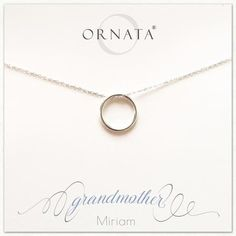 """Grandmother"" Generations Sterling Silver Necklace on Personalized Jewelry Card"
