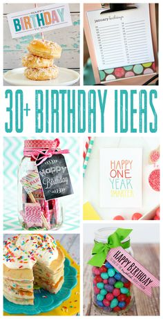 The best DIY projects & DIY ideas and tutorials: sewing, paper craft, DIY. Best Diy Crafts Ideas For Your Home Thirty Fun Birthday Ideas -Read Happy Birthday, Birthday Week, 30th Birthday Gifts, Birthday Treats, Birthday Party Themes, Birthday Pancakes, Special Birthday, Free Birthday, Theme Parties