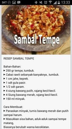 Sambal Indonesian Food Traditional, Indonesian Cuisine, Indonesian Recipes, Tofu Recipes, Asian Recipes, Cooking Recipes, Healthy Recipes, Indonesian Sambal Recipe, Sambal Sauce
