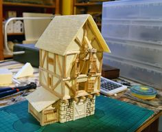 Has some cool miniatures they've made as well as shows attended with some great designs. Medieval Houses, Medieval Town, Medieval Fantasy, Wargaming Table, Wargaming Terrain, Fantasy City, Fantasy House, Brighton City, Figurine Warhammer