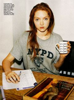 Lily Cole. Looks like a grown up version of one of our Jr. Volunteers at the shelter! EERIE how similar...
