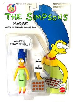 Mattel The Simpsons – Marge ( With 5 Things Moms Say) - The Simpsons Wwe Toys, The Simpsons, Gi Joe, 5 Things, Bowling, Dc Comics, Action Figures, Pokemon, Mom