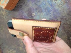 Handmade hand-stitched leather phone case iphone by TisonLeather-SR