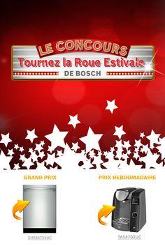 Je viens de m'inscrire au concours « Tournez la roue estivale » de Bosch!