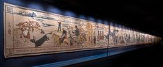 In 1797 the last ever invasion of Britain took place, a French force landed near Fishguard in Pembrokeshire. The story is told in the embroidered tapestry. Bayeux Tapestry, Wales, Vintage World Maps, French, Textiles, Inspiration, Holiday, Biblical Inspiration, Vacation