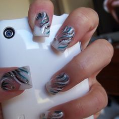 Really like this french nail design