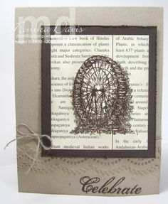 A lovely card by Monika using Feeling Sentimental (SAB), First Edition dsp, & Delicate Designs embossing folder.