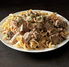 Classic Beef Stroganoff - Fine Cooking Recipes, Techniques and Tips Beef Dishes, Pasta Dishes, Food Dishes, Main Dishes, Great Recipes, Dinner Recipes, Favorite Recipes, Dinner Ideas, Retro Recipes