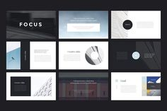 Focus PowerPoint Template by Entersge on @creativemarket