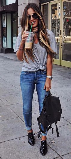 knocking top with jeans
