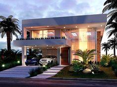 Minimalist House Design, Modern House Design, Dream House Interior, House Elevation, Facade Design, Facade House, House Layouts, House Goals, House Front