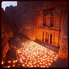 Magical Petra by Night! #Jordan #JO #Travel #Amman
