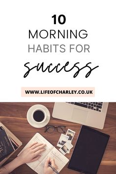 10 morning habits that will promote productivity, well-being and help you to reach your goals! #morning #morningmotivation Your Best Life Now, Life Is Good, Morning Habits, Morning Motivation, Productivity, Are You Happy, Routine, Success, Goals