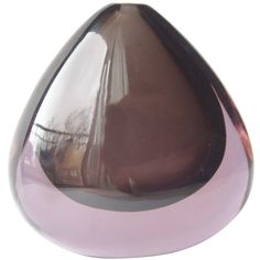 Mid-Century Modern Murano Sommerso Glass Teardrop Vase designed by Flavio Poli