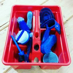 equitation grooming equitation grooming … equitation pansage equitation pansage - Art Of Equitation Emergency Care, Horse Grooming, Plastic Laundry Basket, Organization, Decor, Kit, Horse, Products, Getting Organized