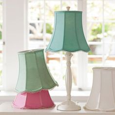 Dyed Lamp Shades