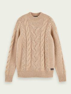 Scotch Soda, Knit Shirt, Cable Knit, Autumn Winter Fashion, Rib Knit, Wool Blend, Knitwear, Men Sweater, Knitting