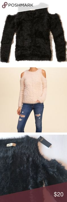 NWT Hollister Cutout Sweater Super cute fuzzy Cutout shoulder Hollister Sweater.          🔹 LARGE                                                                              💰 BUNDLE & SAVE 💰💰💰💰 BUNDLE & SAVE 💰             💰 BUNDLE & SAVE 💰💰💰💰 BUNDLE & SAVE 💰    💰 BUNDLE & SAVE 💰💰💰💰 BUNDLE & SAVE 💰     ❌❌NO TRADES NO TRADES NO TRADES ❌❌ Hollister Tops