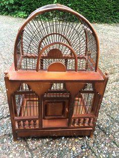 Online veilinghuis Catawiki: Houten vogelkooi
