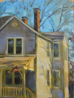 "Daily Paintworks - ""Tuxedo Park"" - Original Fine Art for Sale - © Sandy Haynes"