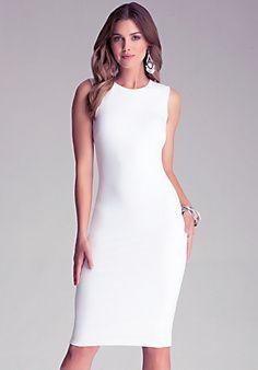 Oh how I love white. Bodycon+Midi+Dress