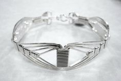 Wire Wrapped Bracelet - Silver Unisex $63.00