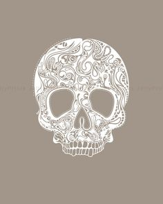 Printable Abstract Head Skull - 8 X 10 Print, --- JP 0031 --- Personal and Small Commercial Use.. $25.00, via Etsy.