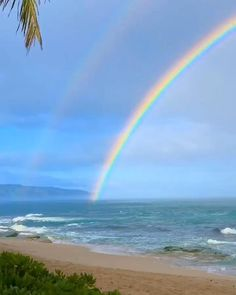 Have you ever wondered what's on the other side of the rainbow? These two videos reveal a stunning full rainbow in their entirety, one from many stories up and the other from the beach. Beautiful Beach Pictures, Beautiful Photos Of Nature, Beautiful Nature Wallpaper, Beautiful Ocean, Nature Pictures, Amazing Nature, Beautiful Beaches, Beautiful Landscapes, Beautiful Nature Photography