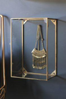 Wall Mounted Brass & Glass Display Box