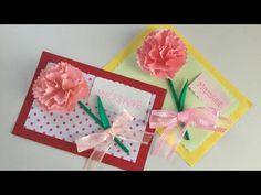 カーネーションのカード Carnation card - YouTube Diy And Crafts, Arts And Crafts, Paper Crafts, Origami Cards, Mother's Day Activities, Classroom Crafts, Mothers Day Crafts, Christmas Crafts For Kids, Art Lesson Plans