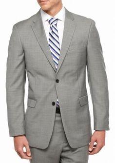 Tommy Hilfiger Grey Classic Fit Shark Wool Sport Coat