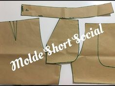 Dress Sewing Patterns, Clothing Patterns, Como Fazer Short, Salwar Pants, Love Sewing, Pants Pattern, Sewing Techniques, Pattern Fashion, Sewing Hacks