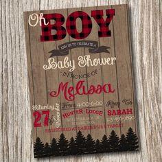 Lumberjack Baby Shower Wilderness by JeannineAubreyDesign on Etsy