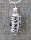 Prayer Wheel Sliver Necklace