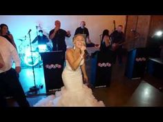 The bride sings Don't Stop Believing at her own wedding// Dave Thomas, ASC- All Set Creations Just For Fun, Give It To Me, Dave Thomas, Surprises For Her, Dont Stop, Cover Songs, Philadelphia Wedding, Songs To Sing, Walking Down The Aisle