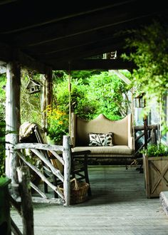 Front Porch, Dianne Estes via Atlanta Homes & Lifestyles