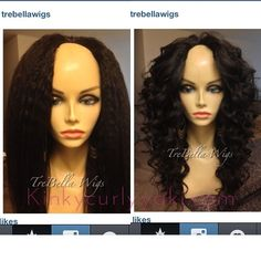 @TreBella Wigs upart wig with coarse yaki with 14/16/18. All of it 2oz bundles, 6 oz in total. Yes, we have half bundles  on the left in its natural state, on the right, with curls. #trebellawigs #wigs #upartwig #uparts #protectivestyle #protectivestyles #coarseyaki #Padgram