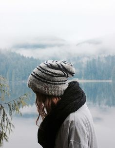 winter hats and foggy lakes