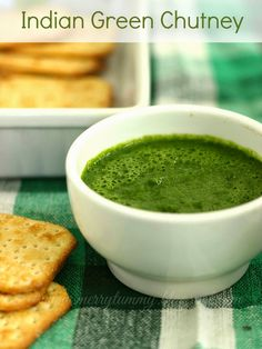 : Green Chutney: Coriander Chutney: Indian Chuteny For Chaats
