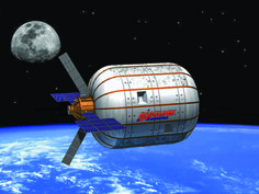 Through a new partnership announced this week, United Launch Alliance (ULA) will work with Bigelow Aerospace to launch a large inflatable habitat on an Atlas. Bigelow Aerospace, United Launch Alliance, Company Goals, Creative Writing Ideas, One Small Step, Space Station, Space Exploration, Spacecraft, Billionaire