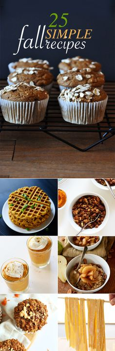 25 Simple Fall Recipes! 30 minutes or less, 10 ingredients or less, OR 1 Bowl required