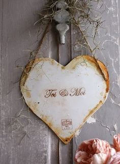 Toi & Moi......I Love this French Country Rustic Heart Cut Out!  See More at thefrenchinspiredroom.com