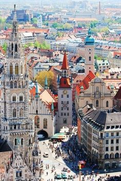 This is a beautiful photo of Munich, Germany. Munich is know to be the third largest city in Germany. Places Around The World, The Places Youll Go, Travel Around The World, Places To See, Around The Worlds, Dream Vacations, Vacation Spots, Vacation Travel, Budapest