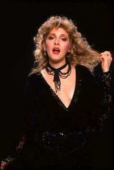 "and another photo of Stevie ~ ☆♥❤♥☆ ~ beautiful in black; photo taken during her 1983 ""The Wild Heart' tour ~ https://en.wikipedia.org/wiki/The_Wild_Heart_(album)"